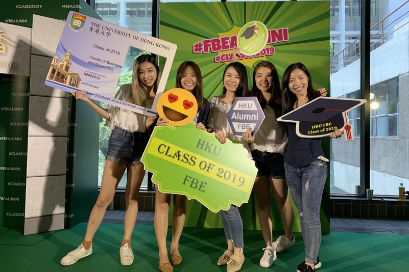 Final year students had a blast at #FBEalumni pop-up event
